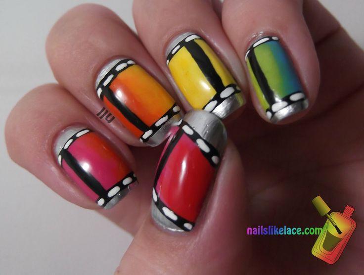 NailsLikeLace: Rainbow Film Strip #nail #nails #nailart