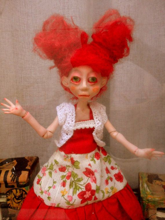 NOSTALGIA,Afflicted Girl,Optimistic girl,Ooak Doll, Art Doll