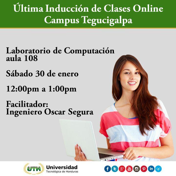 Última Inducción de Clases Online Laboratorio de computación, aula 108 30 de enero 12:00pm a 1:00pm