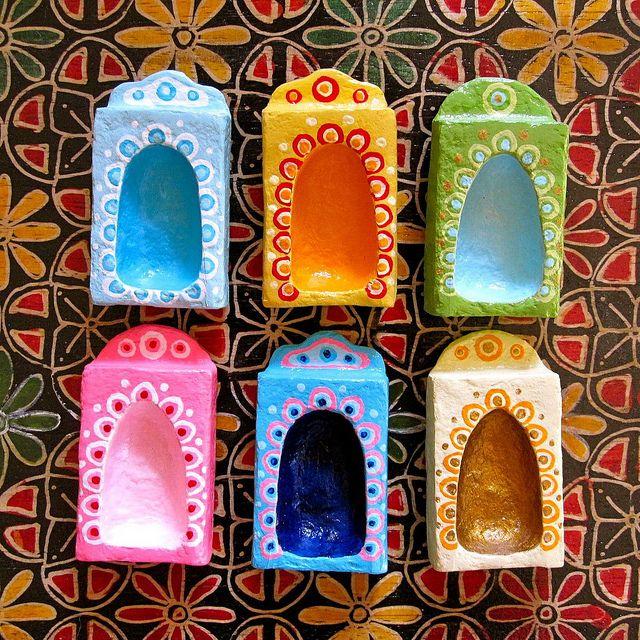 matchbox shrines (matchbox+paper mache)