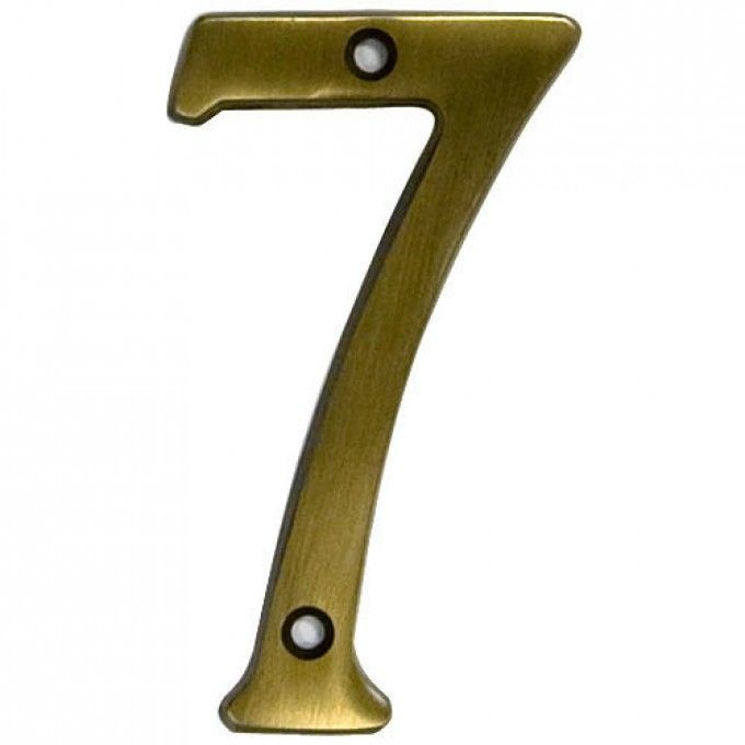 Aged Brass Traditional House Numbers