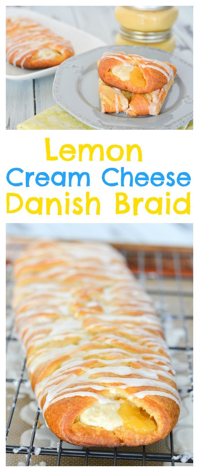 This Lemon Cream Cheese Danish Braid is easy but impressive, and perfect for…