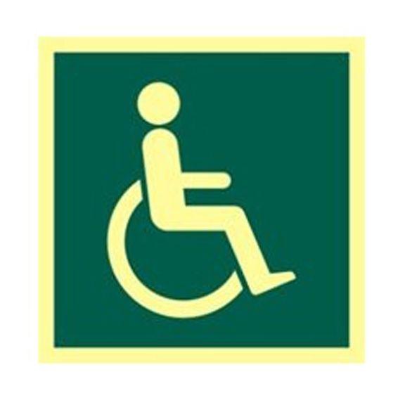 "Panneau Photoluminescent ""Symbole Handicapé"""