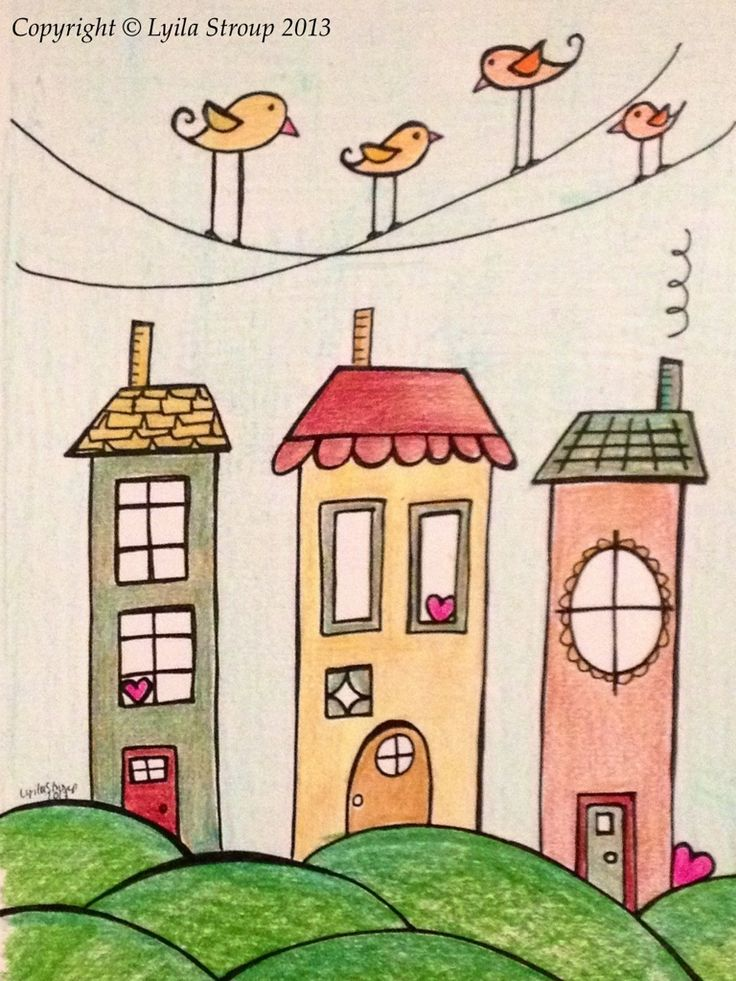 Doodle Houses & Canaries