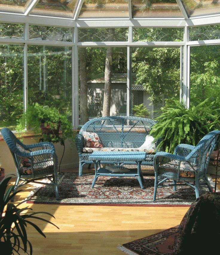 71 best sunrooms conservatories atriums images on - Fresh blue deck furniture design ideas for relaxing outdoor rooms ...