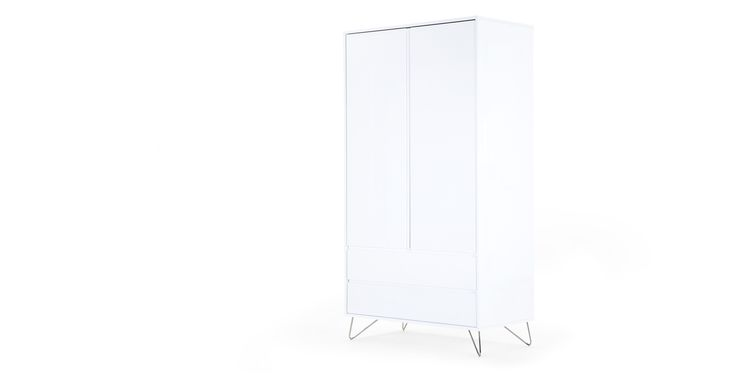 Elona Wardrobe, White Gloss