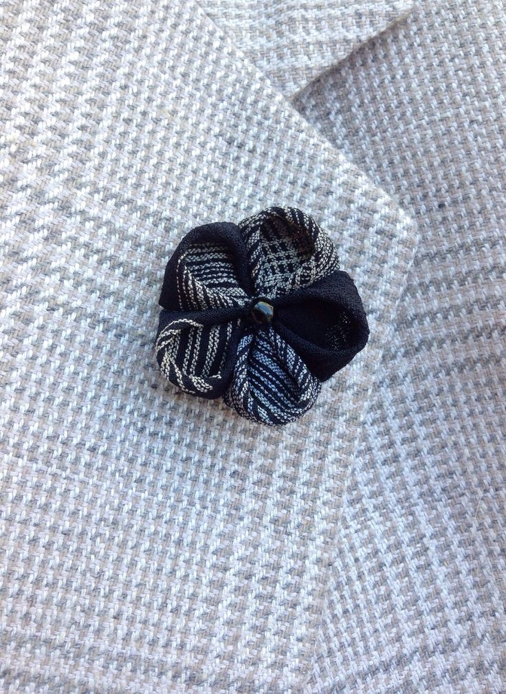 Custom Lapel Pins Mens Lapel Pin Flower Lapel Pin Kanzashi Brooch Silk Lapel Flower Black White Lapel Boutonniere Gift For Him Suit Pin by exquisitelapel on Etsy https://www.etsy.com/listing/266567366/custom-lapel-pins-mens-lapel-pin-flower