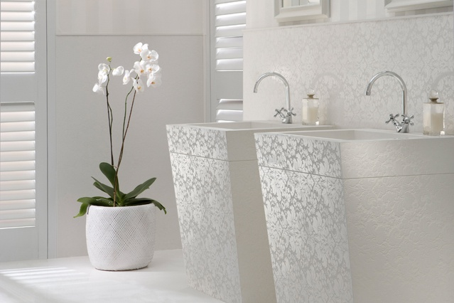 Check out this fabulous Caesarstone called Lace - would be AMAZING as a shower surround!