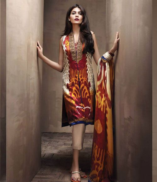 Sana Safinaz Silk collection 2015 SL_5A