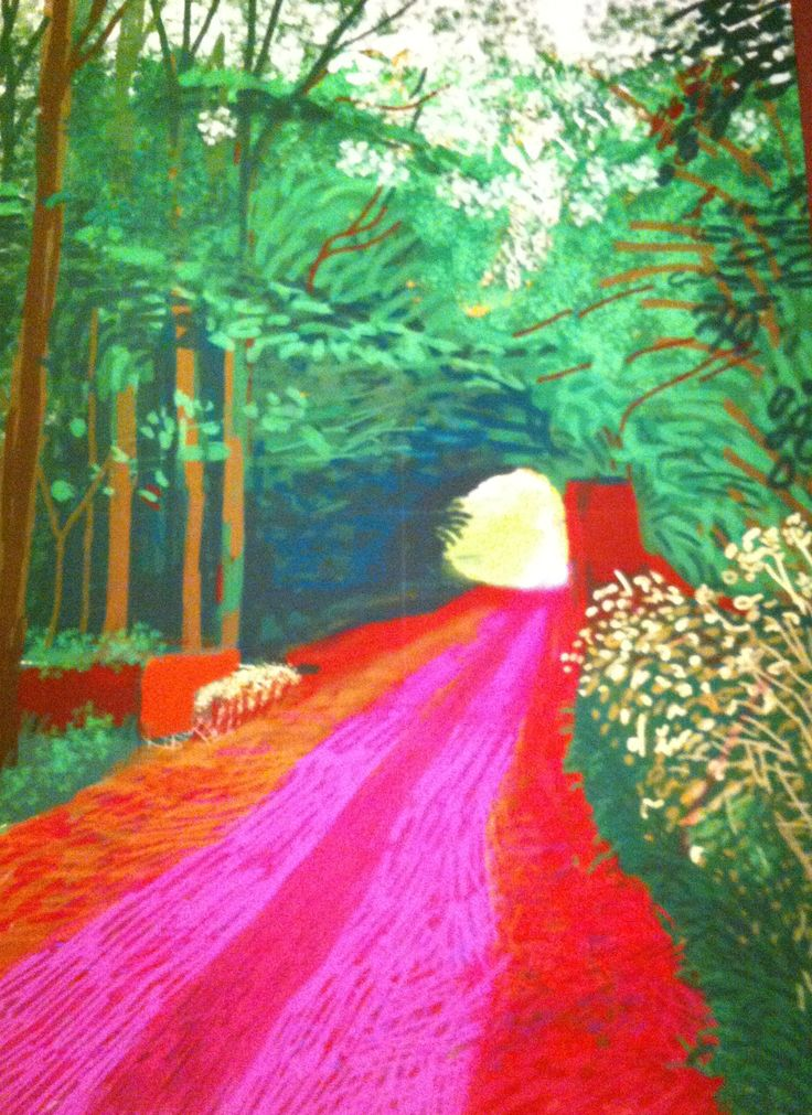 David Hockney's beautiful iPad drawings/paintings.  De Young Museum of art in SF.