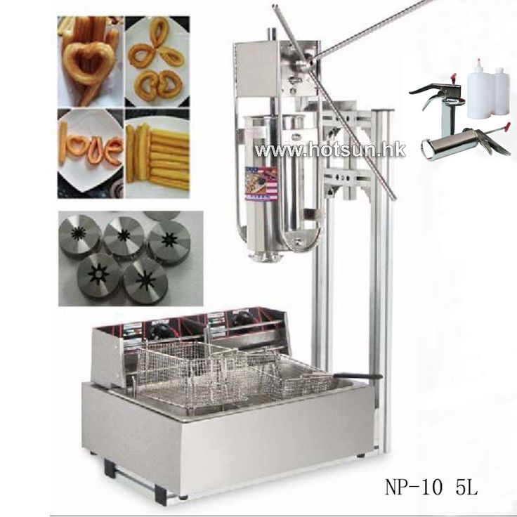 Free Shipping 5L Commercial Vertical Manual Churreras Churros Machine W 12L Fryer 700ml Filler #Affiliate