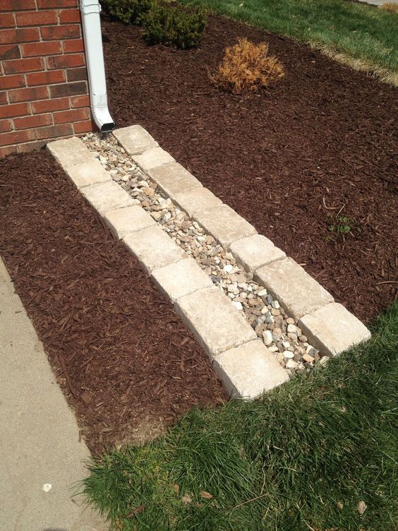 Best 20 downspout ideas ideas on pinterest gutter for Yard drainage options