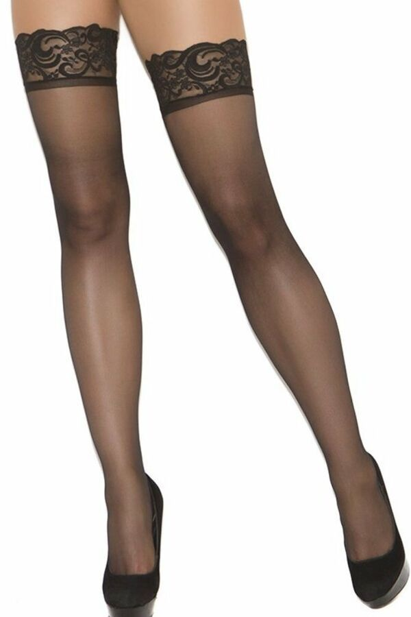 d0d5a24ff3ad2 Sheer Thigh High Hi Lace Band Sexy Back Seam Nylon Hose Stockings Hosiery  Bridal#Lace#Band#Sexy