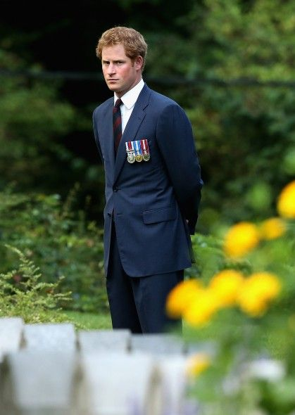 Prince Harry at St Symphorien Miltary Cemetery