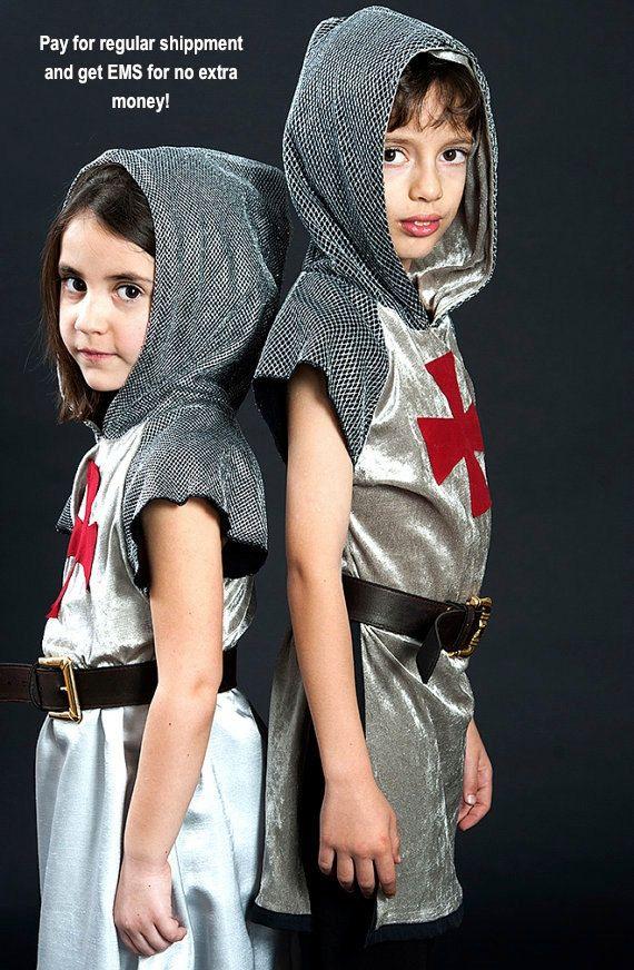 תחפושת אביר knight costume, medieval outfit, worrior tunic with booted pants, original gift for boys, halloween knight, king Arthur