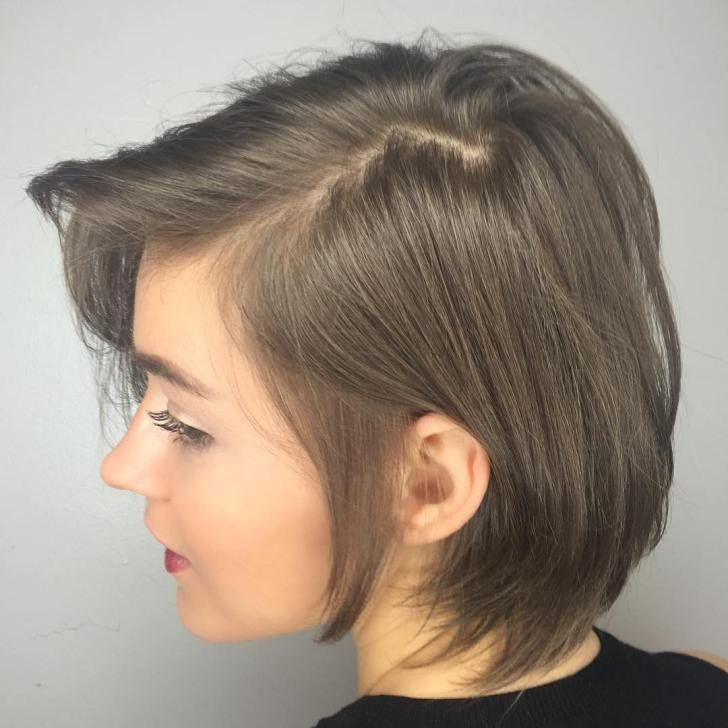 Short Side Parted Hairstyle For Thin Hair