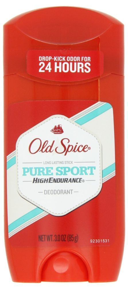 Old Spice High Endurance Pure Sport Scent Men's Deodorant 3 Oz Lot of 4 #OldSpice