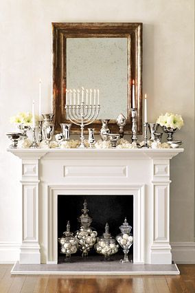 This mantle decoration is absolutely perfect! Understated but elegant.
