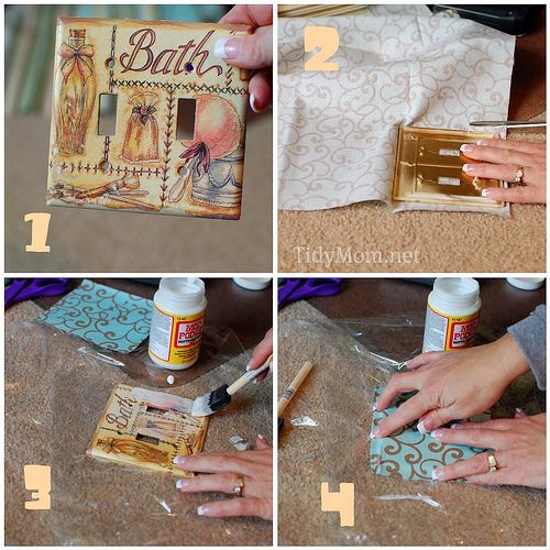 How To Fabric Covered Switchplate Switch Plate Crafts Fabric
