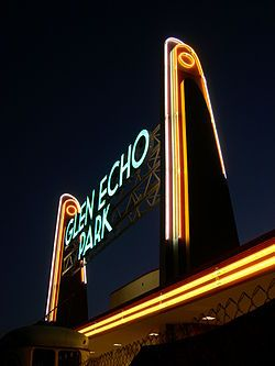 Glen Echo Park in Glen Echo, Maryland, formerly known as Glen Echo Amusement Park, is an arts and cultural center in Montgomery County, Maryland, USA