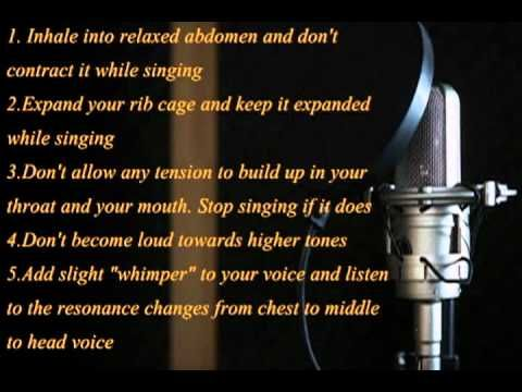 Female vocal workout for vocal cord closure and coordination. - YouTube