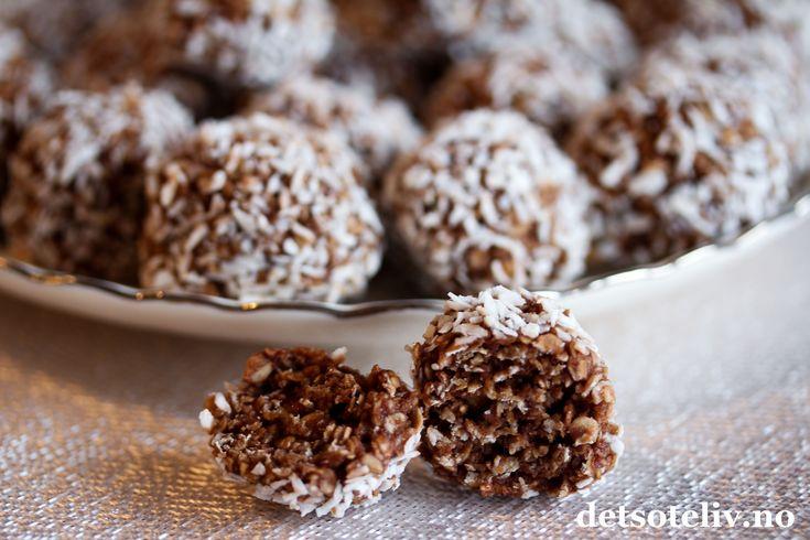 Oboykuler er raske å lage og supergode. De ligner på sjokoladekuler som er en favoritt hos mange, men har mildere sjokoladesmak.