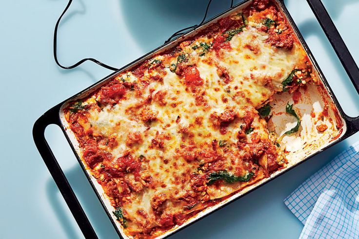Our favorite recipe from the Cooking Light column, this lightened-up lasagna tastes every bit as flavorful as the traditional version.    Recipe:Lean Lasagna