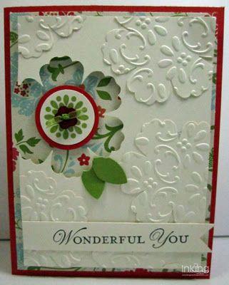 Stampin' Up!  Blossom Punch  Becky RobertsInk Idaho, Handmade Cards, Cute Ideas, Birthday Cards, Mixed Bunch, Stampin Up, Blossoms Punch, Flower Cards, Embossing Flower