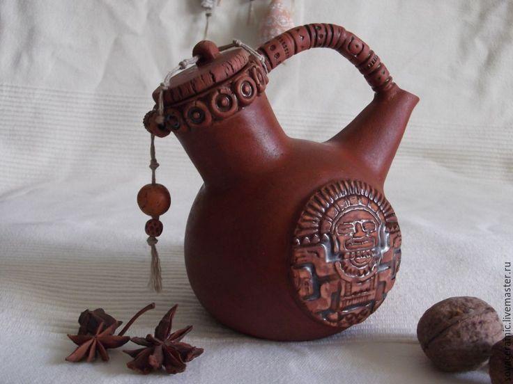 """Купить ЧАЙНИК """"Сон старого вождя"""" - чайник, чайная церемония, керамическая посуда"""