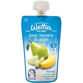 Wattie's Pear, Banana & Apple | Forbaby.co.nz
