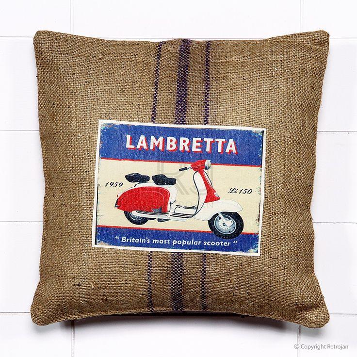 Jute Vintage Car Cushion - Scooter | RP: $34.99, SP: $17.99
