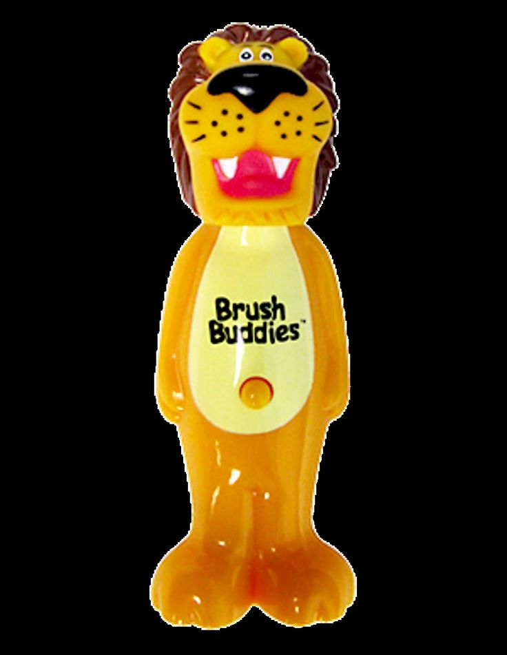 Kids Fun Poppin Rickie (Lion) Toothbrush Flexible brush head Soft bristles  #Unbranded