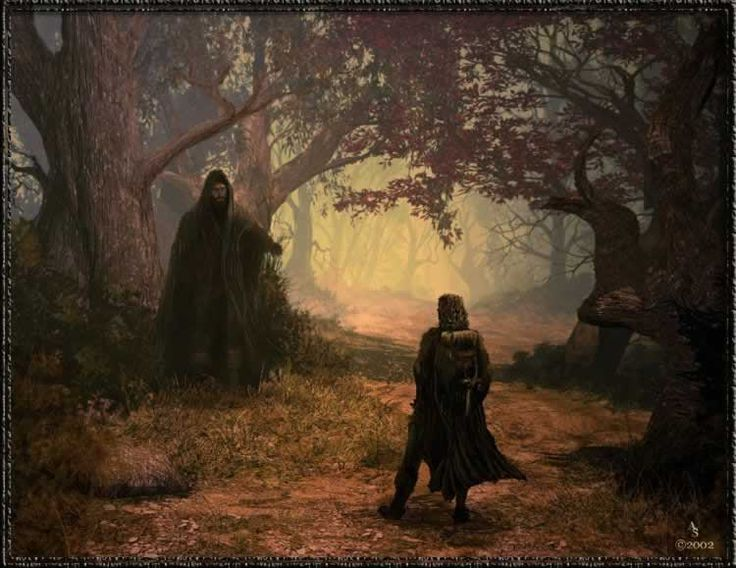 The Sword of Shannara | Allanon and Flick | Artwork by Andy Simmons