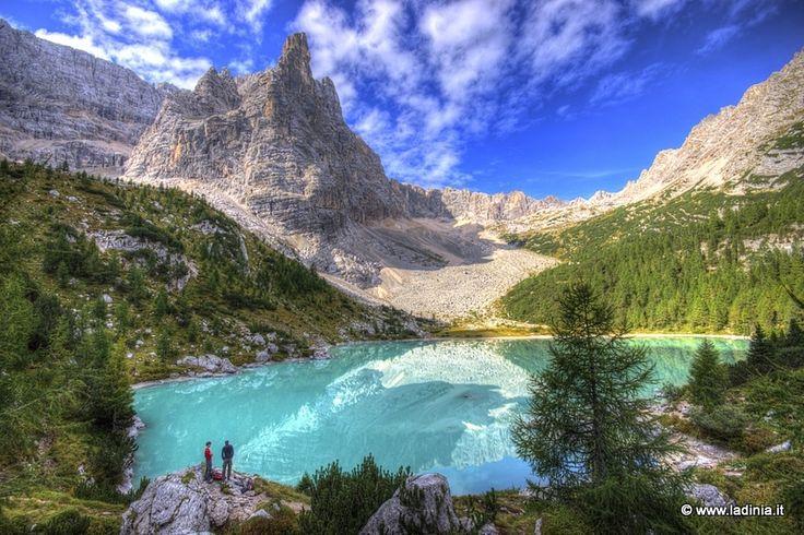 Lago del Sorapis  Cortina dAmpezzo  Logo del sorapis gruppo del sorapiss rifugio a