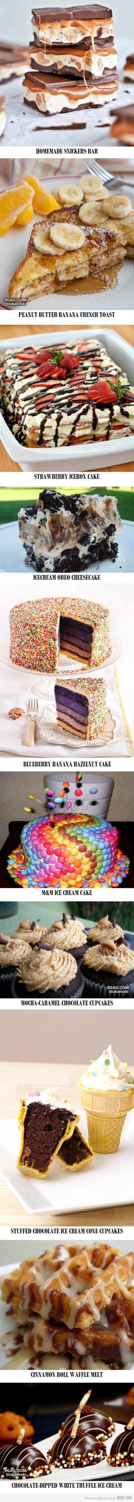 OH MY GOD! If I can make all these desserts I will be a QUEEN!