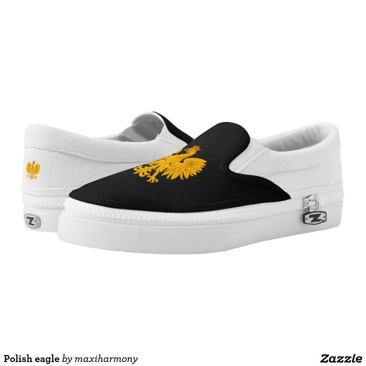Polish eagle printed shoes