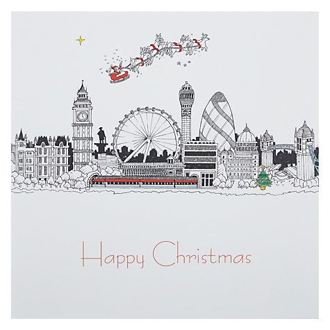 67 best christmas london images on pinterest christmas cards buy portfolio london skyline at christmas card online at johnlewis m4hsunfo