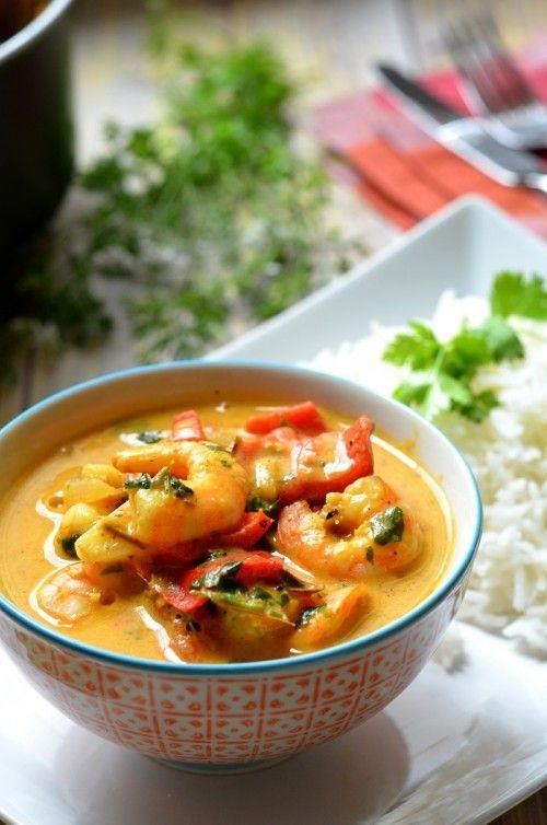 Thai paradicsomos-rákos curry recept
