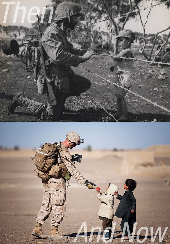The uniforms may change, the battlegrounds may change, but Military men and women will always be America's heroes.