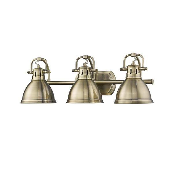antique brass bathroom light glass ceiling duncan vanity light with aged brass metal shade golden lighting in 2018 antique and gold lighting bathroom lighting