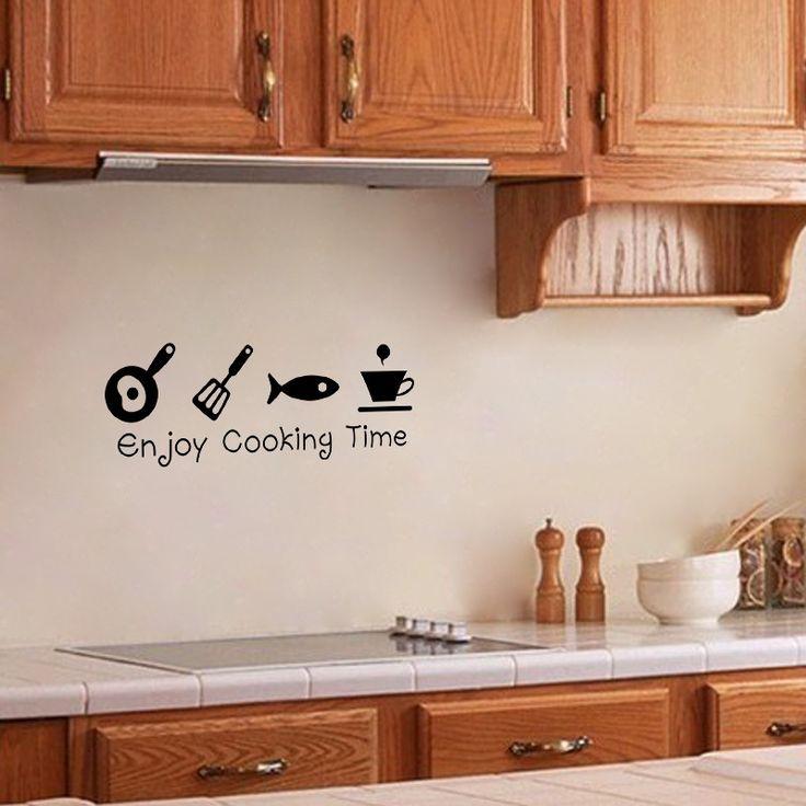 Бесплатная доставка Новый Дизайн Творческий DIY Стикеры Стены Кухни Наклейка Home Decor Ресторан Украшения 3D Обои Стены Искусства ZY8300