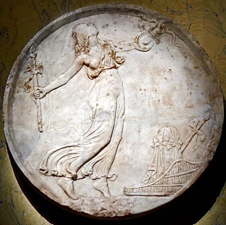 Dancing maenad. Oscillum. Marble. Late 1st century A.D. Inv. No. I 38. Vienna, …