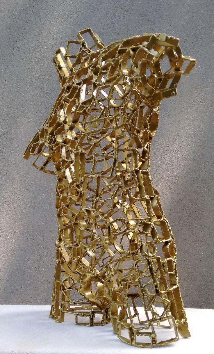 Akelo Andrea Cagnetti - NISO (A. 59 cm; L. 42 cm; P. 21 cm) Scultura Metallo