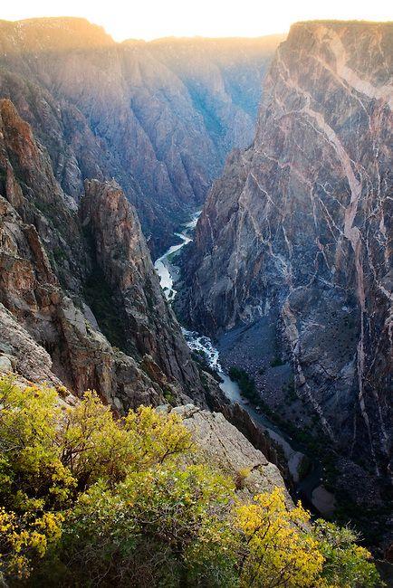 Black Canyon National Park Colorado | Black Canyon of the Gunnison National Park. Near Montrose, Colorado.