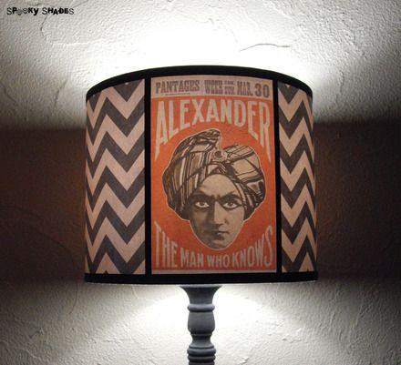 Abat jour chevrons Psychic Reading - déco bohème, déco cirque : Luminaires par spookyshades