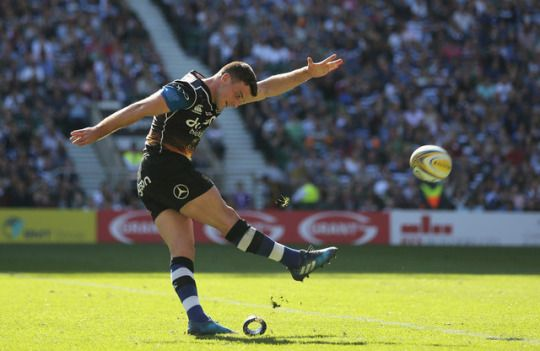 George Ford of Bath Rugby scores a conversion
