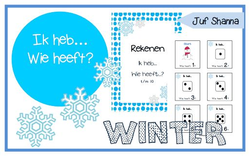 Juf Shanna: Thema winter - Ik heb... wie heeft...
