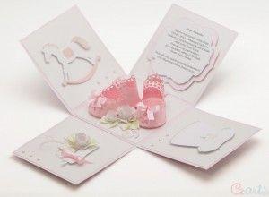 Kartka prezent na Chrzest dla dziewczynki