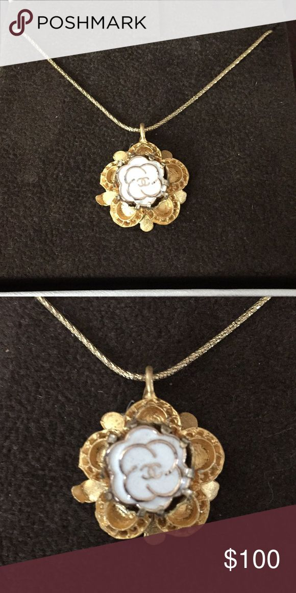 🌹ladylike fab🌹Chanel button pendent This is my favorite! An authentic Chanel Camilla  flower button is set in a floral gold base.🌹  Chain is not included; it cost me $400 for the chain. it is a 14k YG diamond cut durable chain; I don't want to take risk of losing my pendent....  Only pendent is for sale. You just need to add your own chain...be fabulous in your own way🌹🌹 Jewelry Necklaces