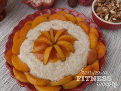Kokosová ovsená kaša s marhuľovým pyré